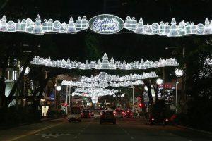 Lights along Orchard road