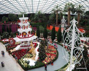 Christmas Toyland Floral Display