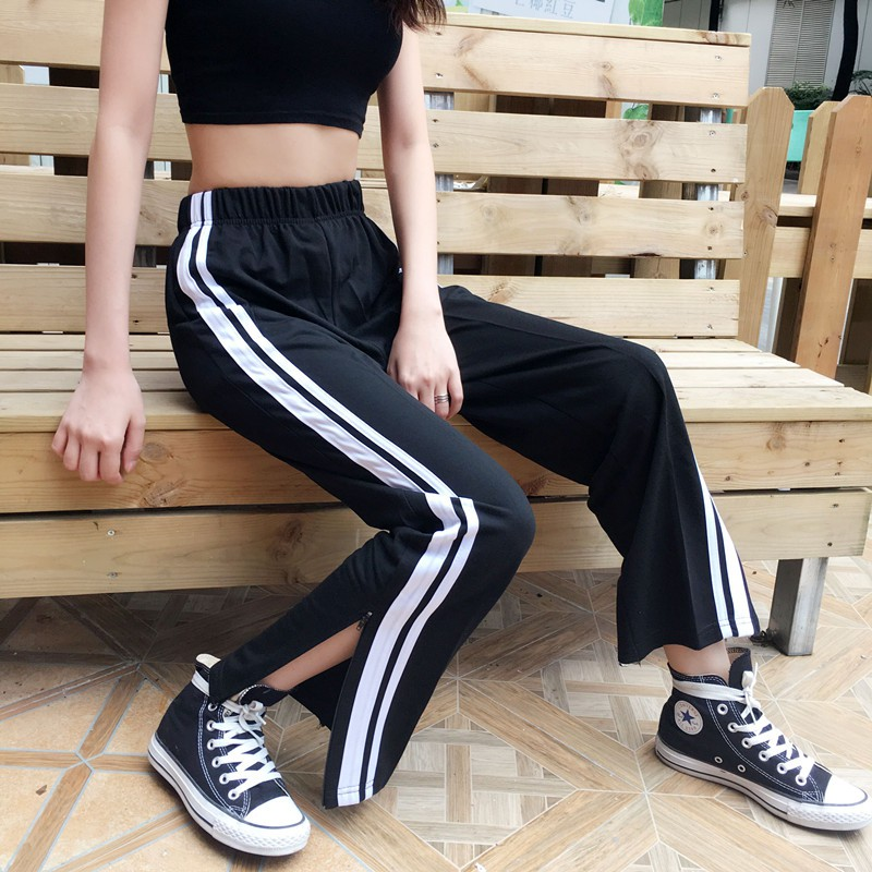 Elastic Trousers Pants