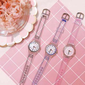 Graphic Transparent Watch