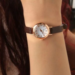 Slim Leather Watch