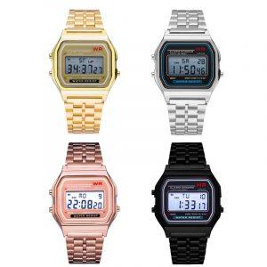 Stainless Steel Digital Watch