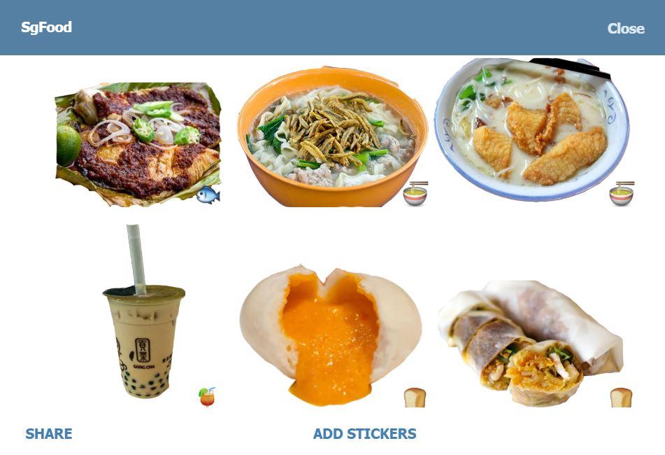 sgfooood telegram channels bots stickers singapore
