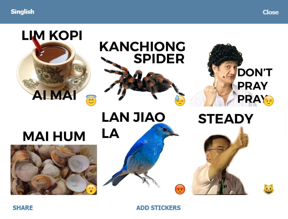singaporee telegram channels bots stickers singapore