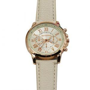 White Beige Watch