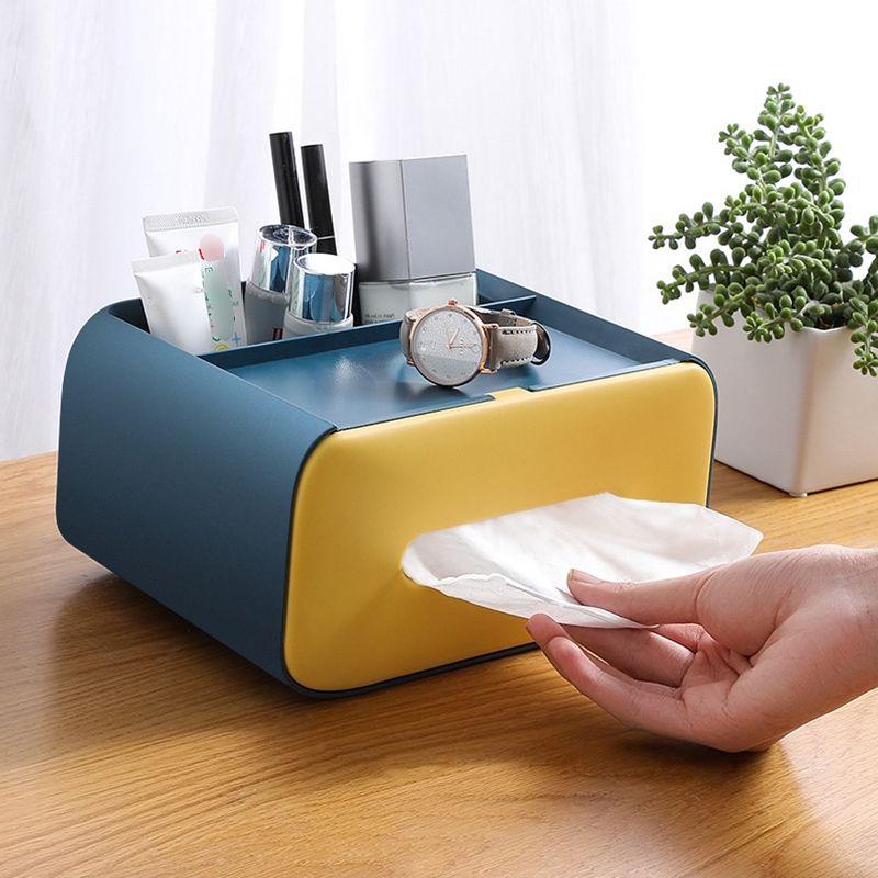 tissue box holder desk organiser
