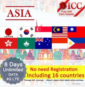 Asia Prepaid SIM Cards
