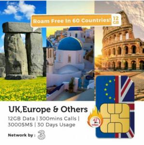 Europe UK SIM Card