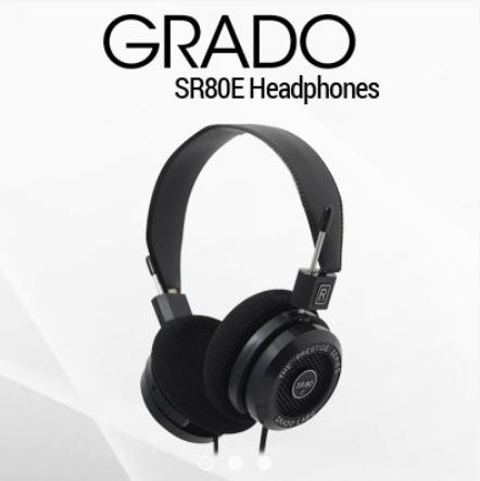 Grado SR80E on ear best headphones