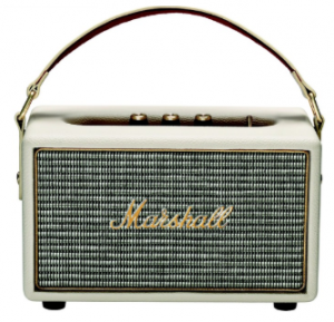 Cream Wireless Speaker with Guitar Amp Aesthetic