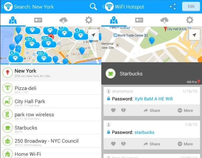 WiFi Map App