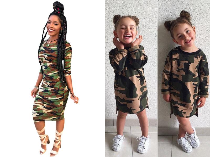camo mother daughter dress