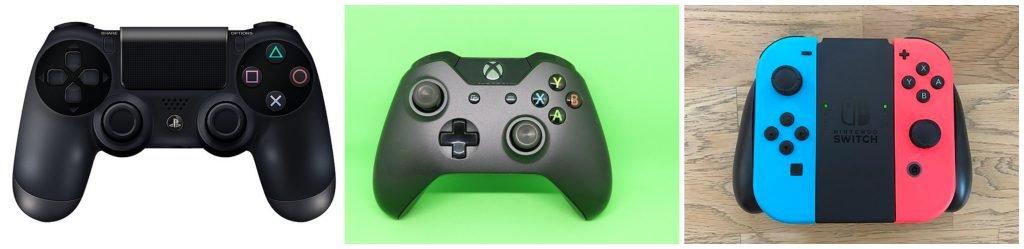best gaming console controller collage