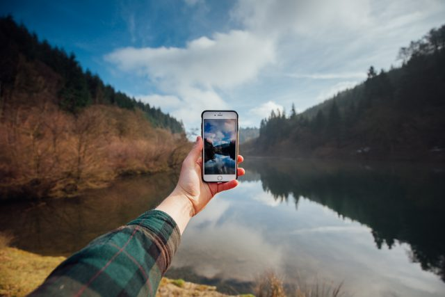 Phone and Scenary