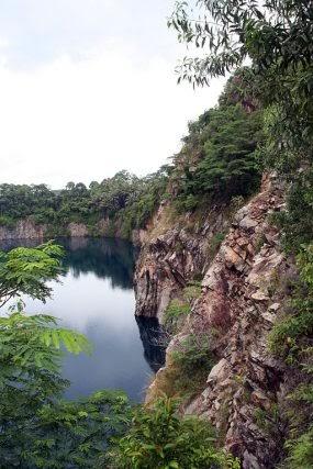 instagram places singapore nature pulau ubin quarry