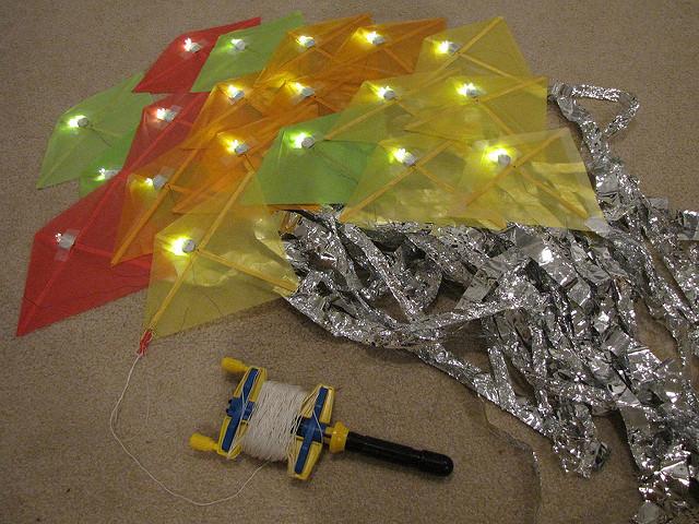 LED kite flying