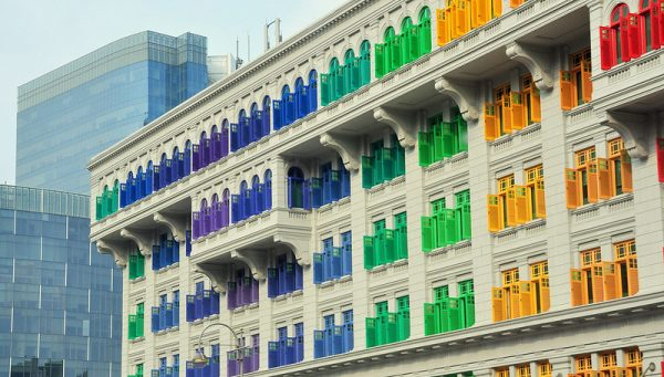 hidden instagram worthy places singapore attraction old hill street police station colourful windows