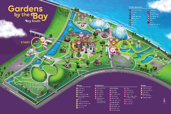 map to victoria lily pond gardens by the bay mbs