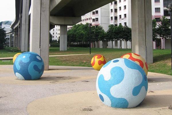 instagram worthy places singapore sengkang sculpture park coloured balls