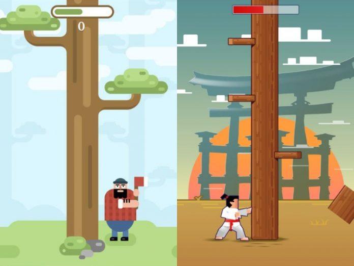 telegram games group chat lumberjack gamee