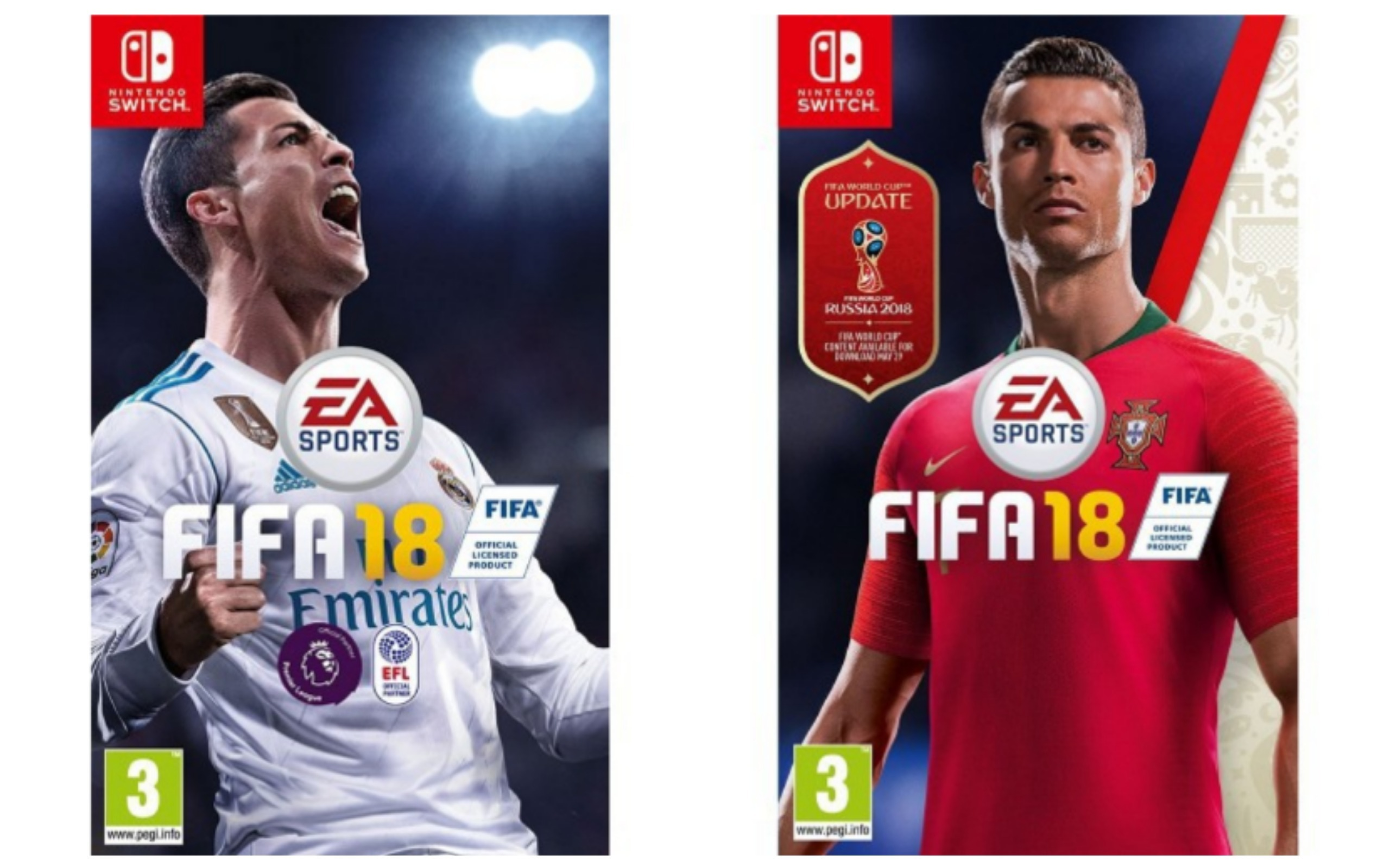 World Cup 2018 FIFA 18 Game Cover