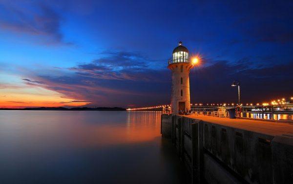 instagram worthy places singapore raffles marina lighthouse night view
