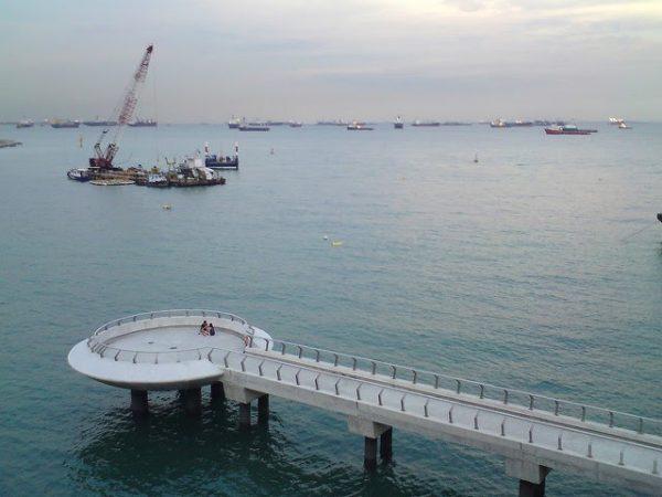 places to take photos singapore marina barrage lookout point sea