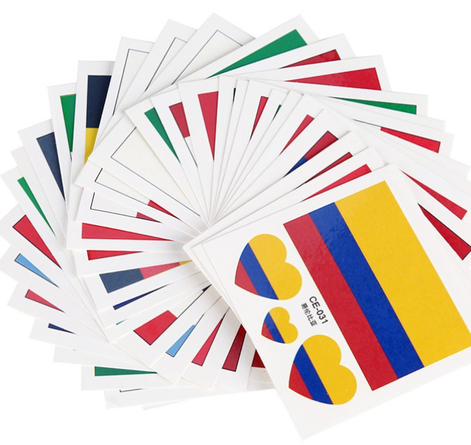 World Cup 2018 Temporary Tattoos