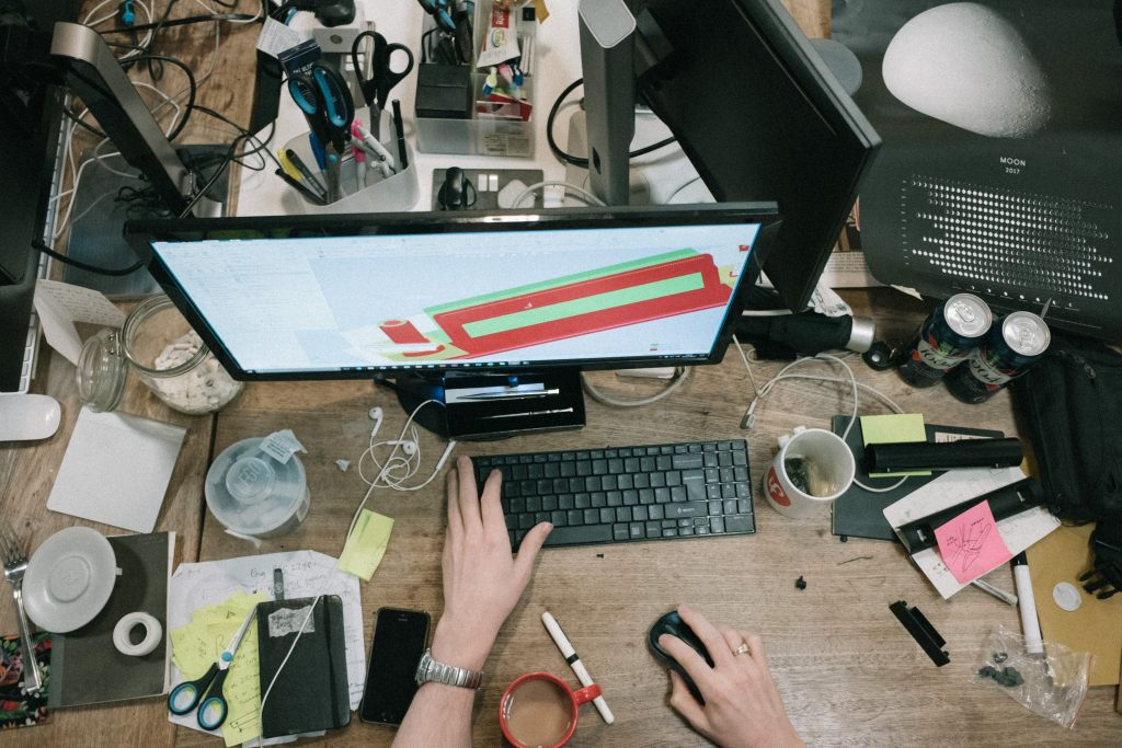 how to stay awake at work messy desk