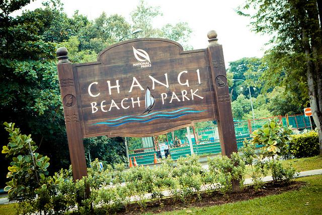 Hiking Trails Singapore Changi Beach Park Sign