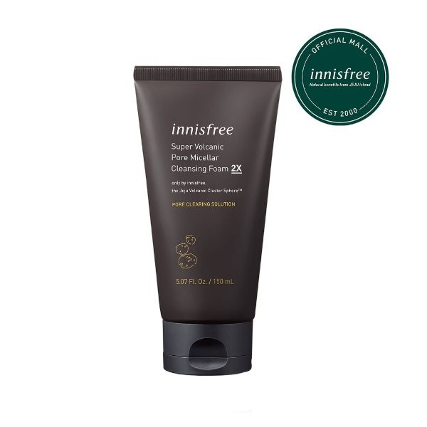 best facial cleanser innisfree volcanic pore micellar cleansing foam
