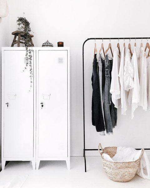 hdb home decor ideas black and white minimalistic clothes rack locker