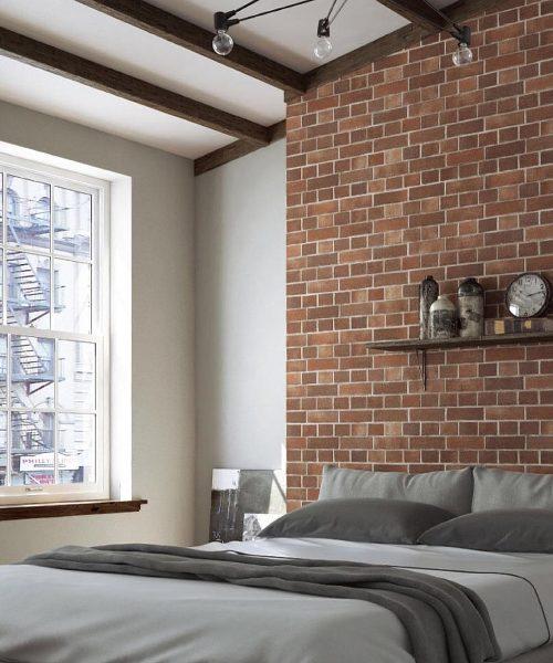 hdb bto home decor brick wall wallpaper design industrial