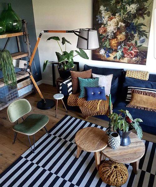 scandinavian bto home interior design dark wood blue tone