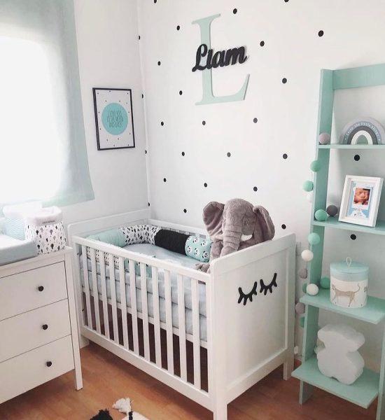 bto home decor nursery tiffany blur white polka dots