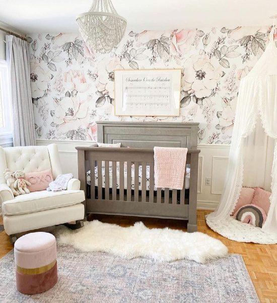 hdb home decor nursery room wallpaper cute