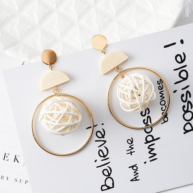 Woven Ball Earring