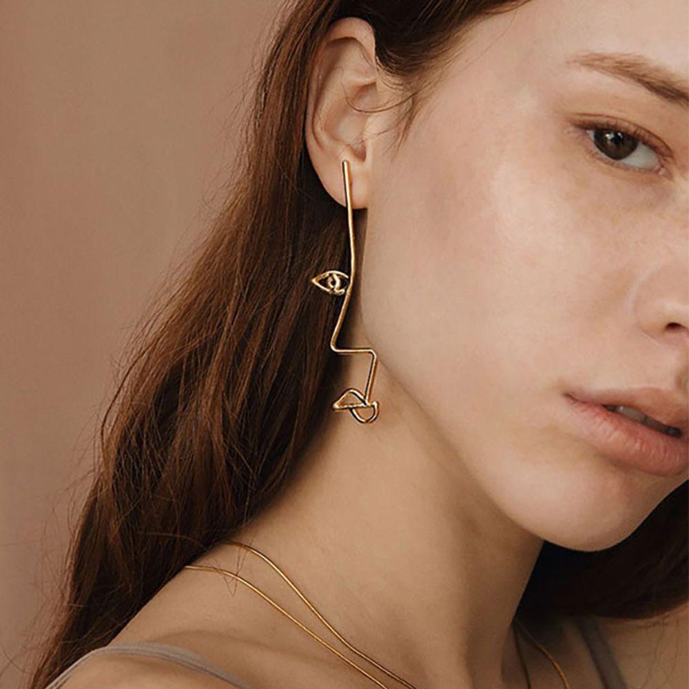 Twisted Face Earrings