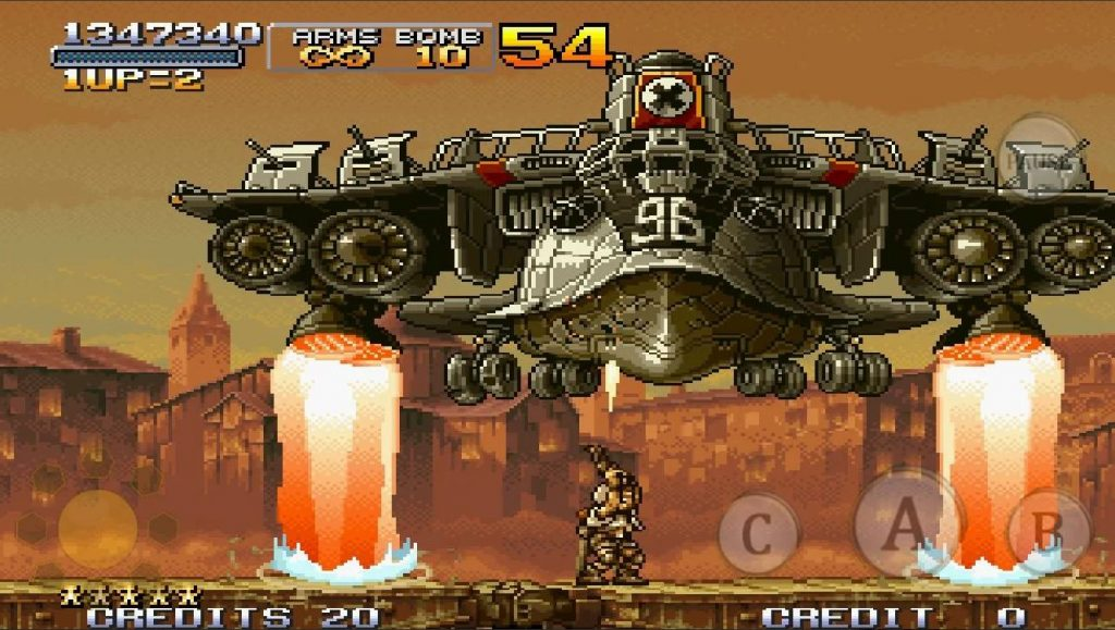 metal slug x retro mobile games