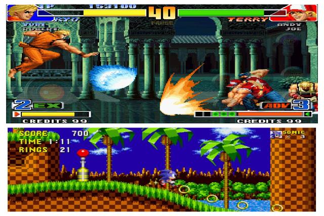 featured retro mobile games collage