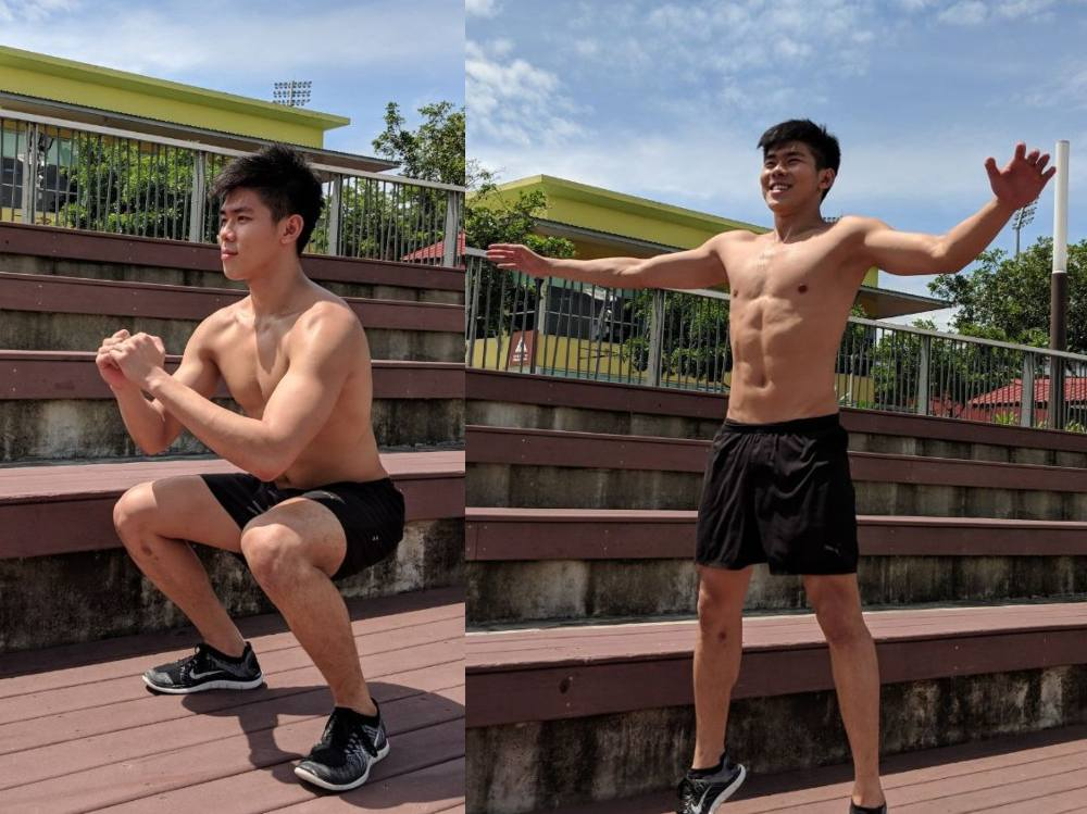 star jump exercise at home