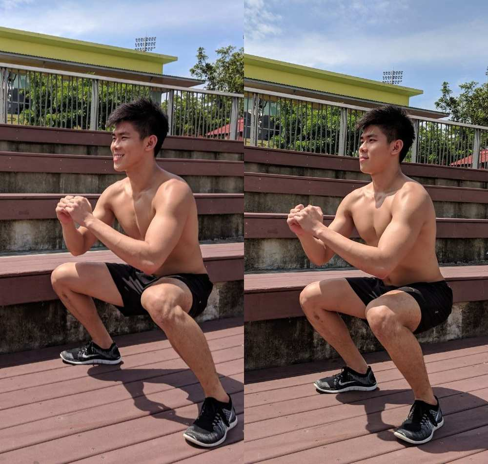 sumo squat combination exercise at home
