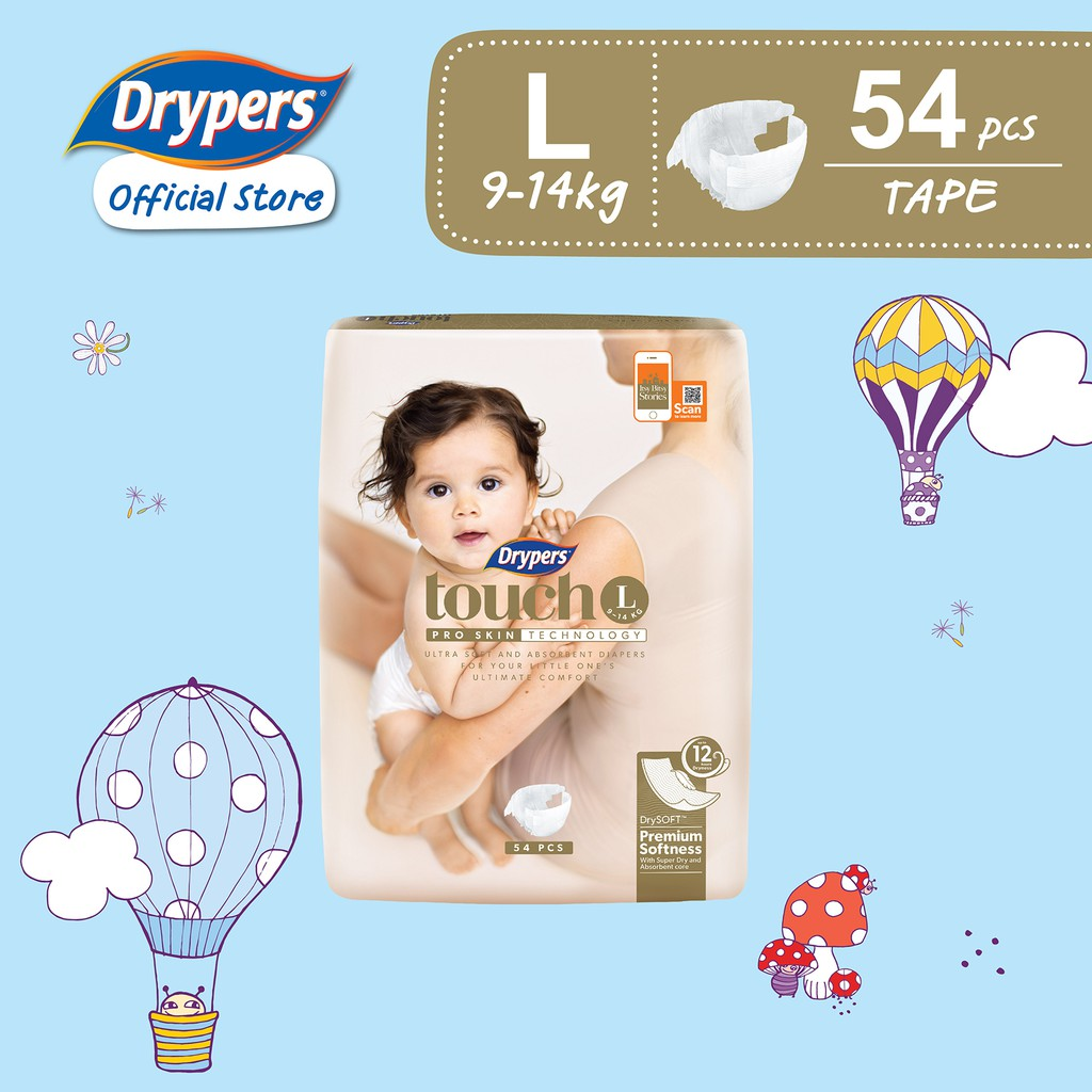 Drypers touch