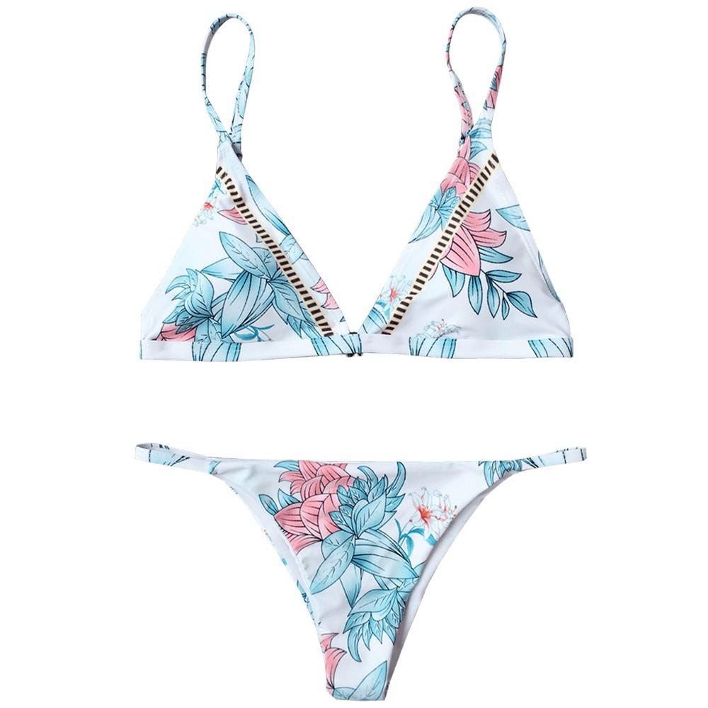 Pastel Floral Bikini