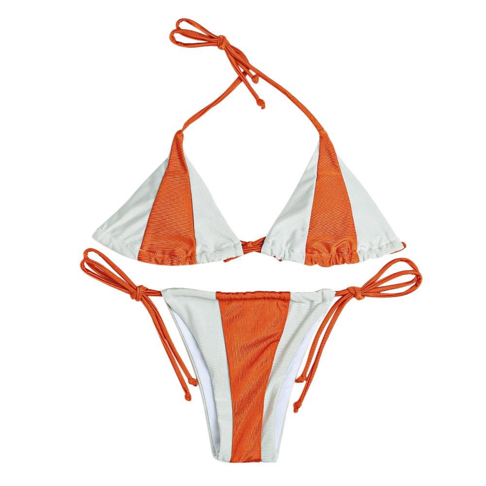 Orange and White Bikini