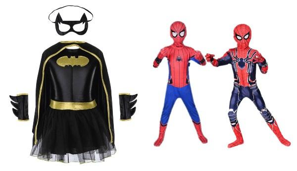 halloween costume ideas superhero marvel kids spiderman bat girl