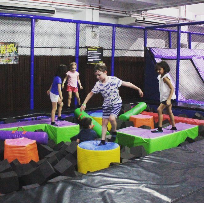 amped trampoline park indoor playground singapore