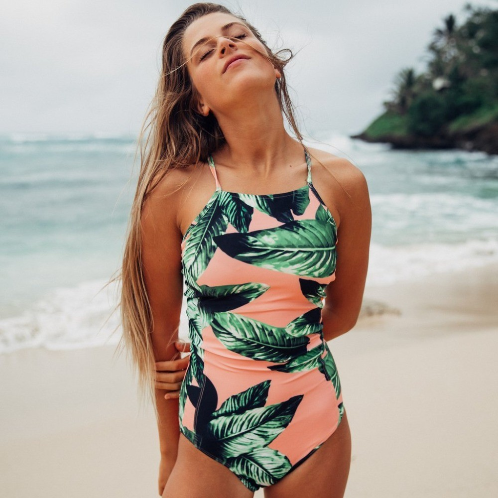 Pink Tropical Swimsuit