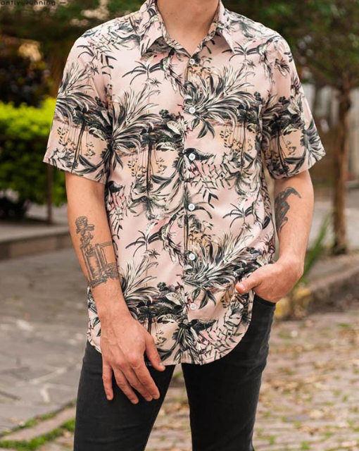 floral tropical printed shirt men fashion in singapore
