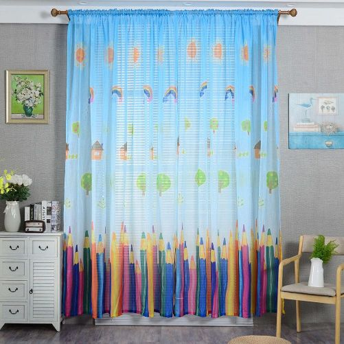 colourful curtain baby room decor